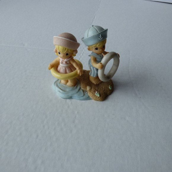 Precious moments figurines  Sailor Boy And Girl